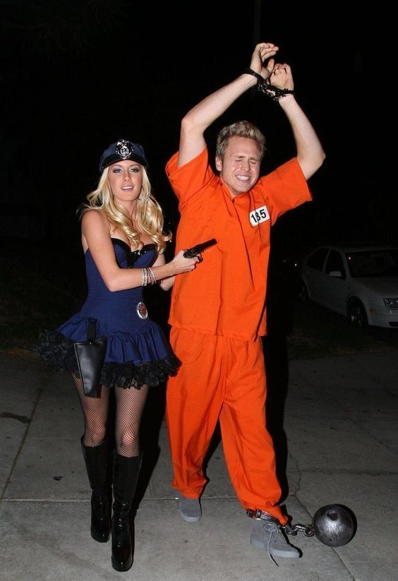 Easy cute couple Halloween costume idea (even your boyfriend will agree to wear this  sc 1 st  Halloween Costumes - Involvery & Halloween Costumes | Great Couple Halloween Costume Ideas He WILL Wear