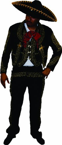 Alexanders Costumes Mariachi Male, Black, 40