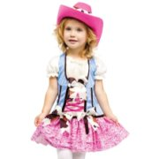 Fun World Toddler Girls Cowgirl Cowboy Rodeo Halloween Costume