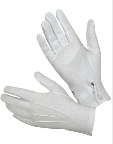 Hatch WG1000S Cotton Parade Glove with Snap Back (White, Large)