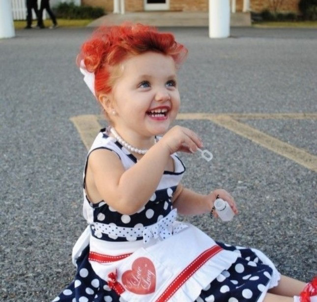 ADORABLE!  Toddler I Love Lucy costume DIY idea!