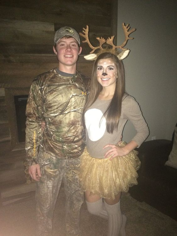Boyfriend-approved couple Halloween costume idea - the deer and the hunter. All guys  sc 1 st  Halloween Costumes & Halloween Costumes | Great Couple Halloween Costume Ideas He WILL Wear