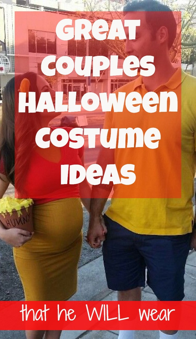 Great couples Halloween costume ideas for guys who REFUSE to wear couples costumes. Easy DIY costume ideas - and some you can buy online.