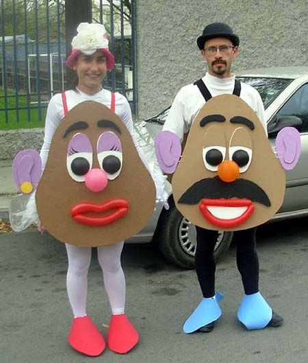 DIY Mr and Mrs Potato Head Costumes