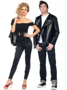 Cute couples costume for Halloween - Danny and Sandy from Grease!