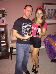 Super cute Halloween costume idea for couples - Jack and Coke!
