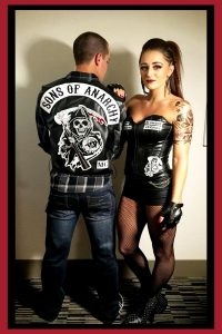 Couples Halloween Costume Ideas - Creative Couples Costumes for Halloween - Love this Sons of Anarchy couples costume idea! Lots more couples costumes ideas on this page.